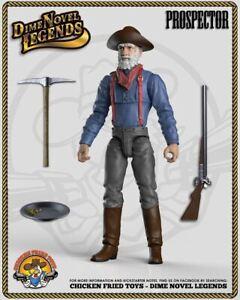 """Dime Novel Legends 1:18 scale (4"""") old west action figure Prospector"""