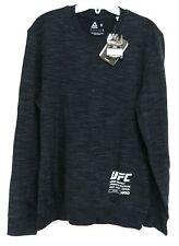 Nuovo Reebok Hypebeast UFC Uomo Manica Lunga Nero Atletico Tee T-Shirt Taglia S