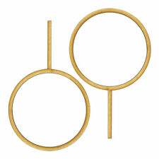 """2x 7"""" Hoops on 4"""" Sticks - 3mm MDF Wood 17.8cm Round Circle Cake Topper Stand"""