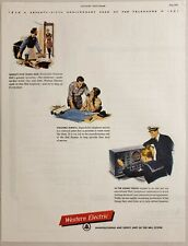 1951 Print Ad Western Electric Telephone Manufacturing Alexander Graham Bell