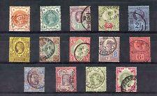 Great Britain 1887 1/2d-1s(x2) Jubilee SG 197-214 VFU Cat £410($680)