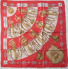 """HERMÈS """" CLIQUETIS """" foulard 100% soie  en TBEG vintage"""