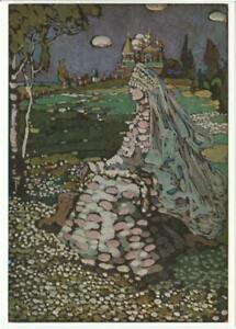 Landscape with Russian Belle by Wassily Kandinsky Art Postcard