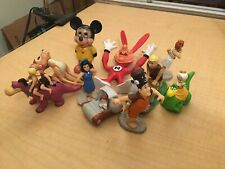 New listing Lot of Toy Collection Flintstones Figurines Mickey Mouse Disney B3 Jkt9