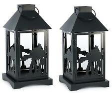 Star Wars Black Stamped Lantern | Imperial AT-AT | 14 Inches | Set of 2