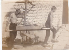 1969 Handsome nude muscle young men workers gay interest Russian Soviet photo