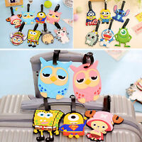 3pcs Cartoon Silicone Travel Luggage Tag Baggage Suitcase Bag Label Name Address