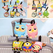 3pcs Cartoon Silicone Travel Luggage Tag Baggage Suitcase Bag Label Name Address