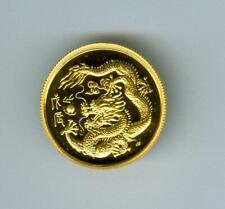 SINGAPORE 1988 10 SINGOLD YEAR OF THE DRAGON 1/10 OZ. 999.9 GOLD GEM BU