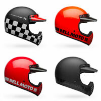 2020 Bell Moto-3 Full Face Retro Style Motorcycle Helmet - Pick Size & Color