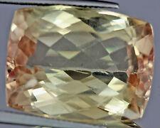 41.75 Cts Natural Cushion Cut Yellowish Peach Patroke Gemstone VS