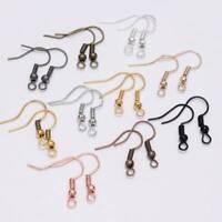 100pcs 20x17mm Handmade Antique Metal Earring Hooks Jewelry Making Findings DIY
