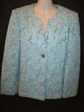 Alfred Dunner Aqua Blue Jacket 12P