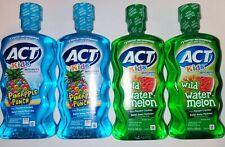 ACT Kids Anticavity Rinse, 2 X Pineapple punch & 2 X Wild Watermelon, 16.9 oz ea