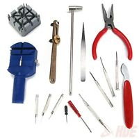 Watch Repair Tool Kit 16pc Set Pin Strap Link Band Remover Battery Case Opener