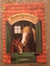 Hausaufgabenheft Pferd klein Heft Schule Schulkind Mädchen Lernen Hausaufgaben