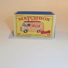 Matchbox Lesney 62 b Commer TV Service Van empty Repro E style Box Rentaset