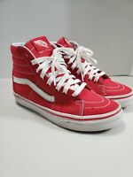 Vans High Top Red White Old Skool Canvas Sneakers Women's Size 5.5 or Men's 4
