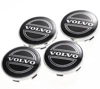 Volvo Schwarz Black Nabenkappen Felgendeckel Allufelgen Wheel Cap 4 x 60mm