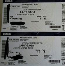 Lady Gaga Konzert - 2 Sitzplätze Mercedes Benz Arena Berlin 23.02.2018