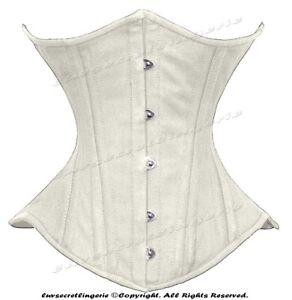 Heavy Duty 26 Double Steel Boned Waist Training Cotton Underbust Shaper Corset M