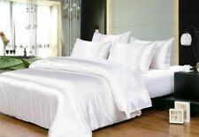 1000TC SATEEN SILK  IN  WHITE COLOR SOLID ALL UK SIZES SELECT ITEM FROM MENU