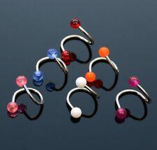 6er SET Lippen Piercing Spirale 1,2x10x4mm YWHY173