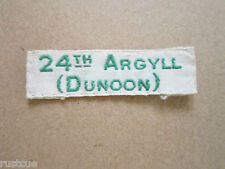 24th Argyll Dunoon Scout Group Troop Name Tape Badge