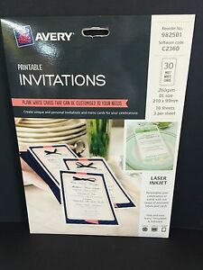 Avery Printable Invitations 30 Matt White (982501)