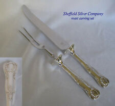 New listing Kings by Sheffield Silver Silverplated 2 pc. Roast Carving Set - excellent