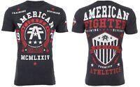 AMERICAN FIGHTER Men T-Shirt DALTON Athletic BLACK RED WHT Biker Gym MMA $40