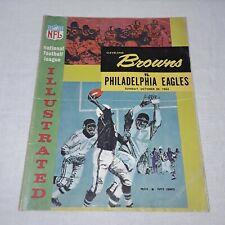 CLEVELAND BROWNS VS PHILADELPHIA EAGLES NFL FOOTBALL PROGRAM OCTOBER 20, 1963