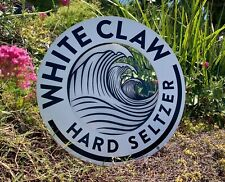 White Claw Hard Seltzer Beer Bar Pub Man Cave Wood Sign Mirror