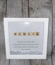 Handmade Personalised Frame Scrabble Auntie Aunty Aunt Any Occasion Christmas