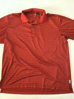 IZOD Cool FX Series Short Sleeve Red Stripe Golf Polo Shirt Men's Large
