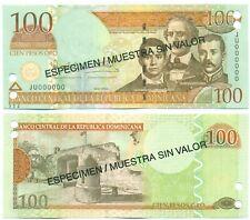 DOMINICAN REPUBLIC NOTE 100 PESOS ORO 2004 SPECIMEN P 171s4 UNC