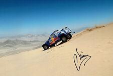 Carlos SAINZ SIGNED Dakar Rally DRIVER Red Bull 12x8 Photo AFTAL COA Autograph