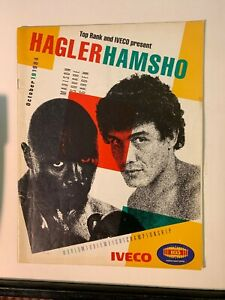 1984 Marvin Hagler v Mustafa Hamsho World Middleweight Championship Program GOOD