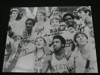 1974 NC State Basketball Championship Team 11 Signed 11x14 Photo BECKETT BAS COA