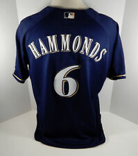 2000 Milwaukee Brewers Hammonds #6 Game Issued Possible Used Blue Jersey
