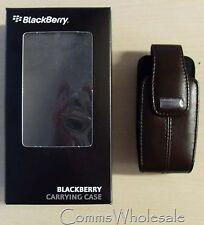 Genuina Original Blackberry De Cuero Marrón Funda Giratoria Para 8100 8110 8120