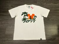 Uniqlo UT x Disney Collection Mickey Mouse Palm Trees White Mens T-shirt NEW