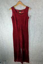 agnes b Vintage Velvet Red Wine Jumpsuit