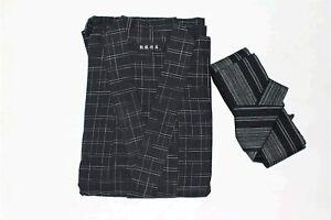 MAYSONG Japanese Yukata Kimono Robe OBI Belt Mens Yukata Set L, Style 5, Size