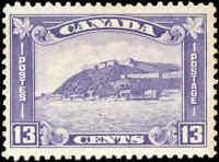 1932 Mint NG Canada F+ Scott #201 13c King George V Medallion Stamp