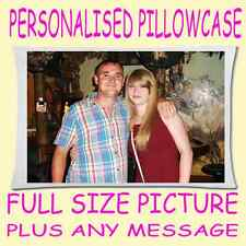 Personalised Pillow Case large A2+ printed photo+text  GREAT GIFT!
