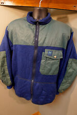 Vintage Helly Hansen Norwegien Wool Sherpa Fleece Synchilla Vtg Jacket Coat  o9