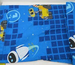 Disney Pixar Wall-E Twin FLAT Bedsheet Blue Bedding Boys