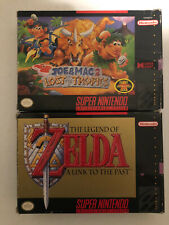 Super Nintendo 2 Game Lot CIB SNES - Zelda A Link to the Past & Joe & Mac 2 Lost