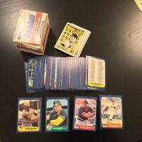 1986 Fleer Update Complete Set Barry Bonds Will Clark Jose Canseco RCs (L1.3)